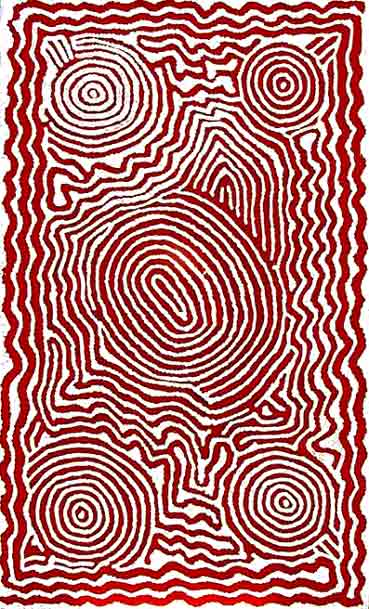CLICK the artwork to view the artist's  entire collection - Barney Campbell Tjakamarra (1928-2007) Paintings