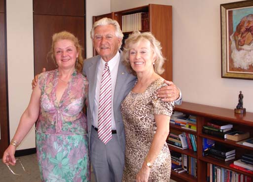 Hon. Bob Hawke the longest serving Prime Minister of Australia and Aniela