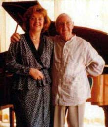 Arthur Boyd with Aniela,visiting Galeria Aniela art gallery,1995