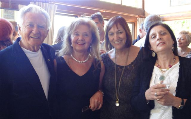 PHOTO: (from left) Hon. Bob Hawke the former Prime Minister of Australia, Aniela Kos, Anne Maria Nicholson Reporter ABC TV, Helena Boyd