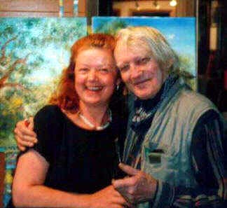 David Boyd born 1924 with Aniela in his Studio