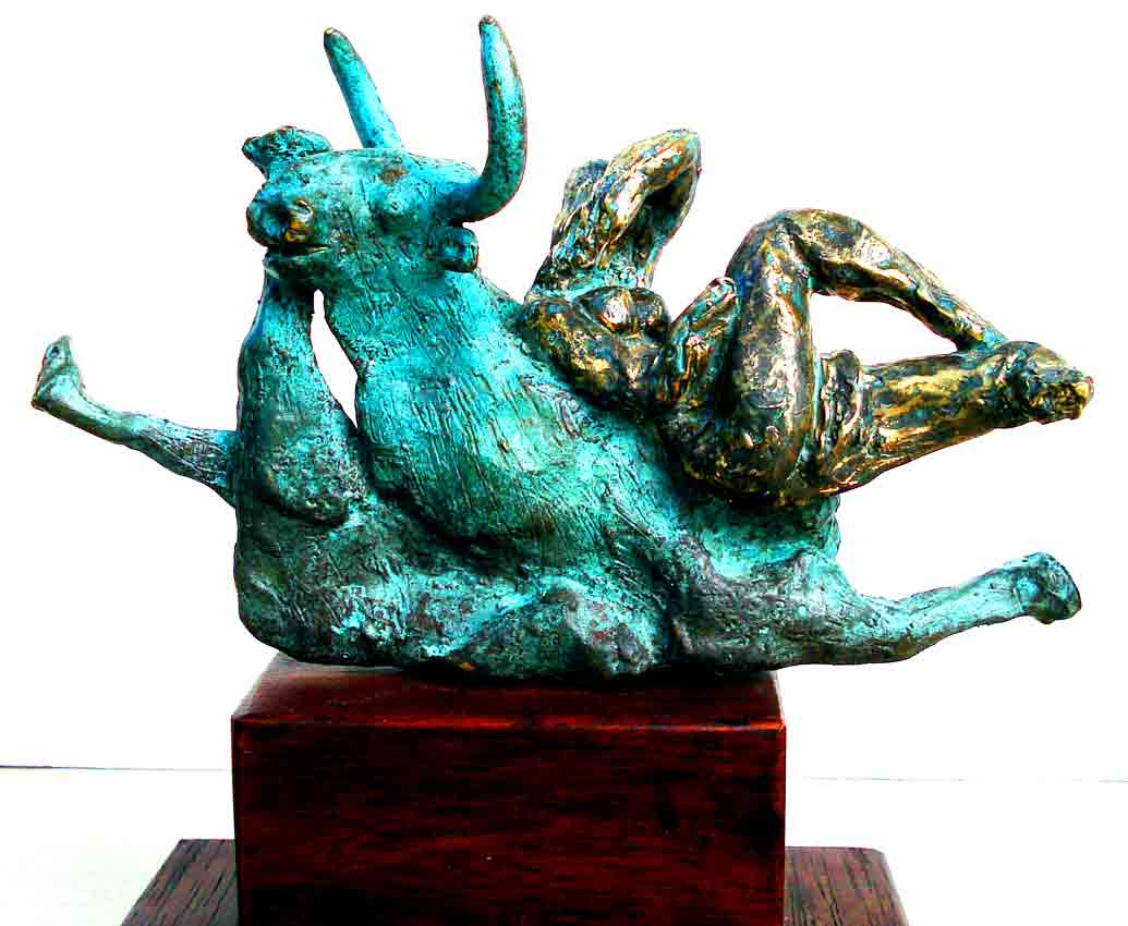 Click to Enlarge: Dino Rogliani, Europa abducted by Zeus 1/1, Bronze 1/1