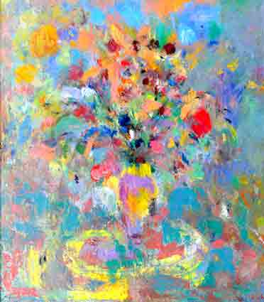 Click to Enlarge: Jamie Boyd, 17-12 Flowers, Oil on canvas, 105x92cm