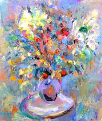 Click to Enlarge: Jamie Boyd, 37-12 Flowers, Oil on Canvas, 105x92cm