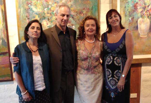 Helena & Jamie Boyd, Aniela, and Anne Maria Nicholson, a senior journalist with ABC TV News and Current Affairs