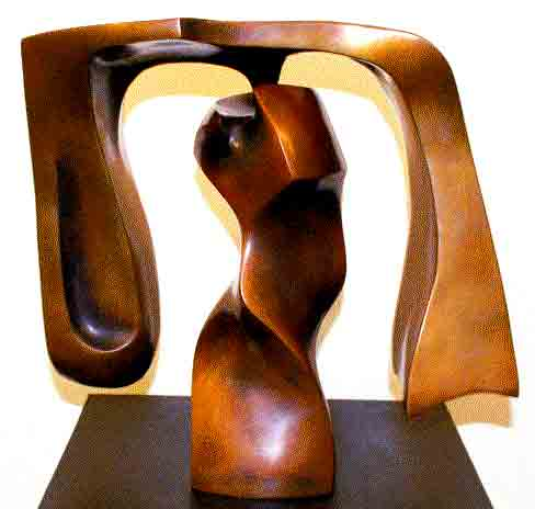 Click to Enlarge: Robin Holliday, SINGLE mobile No.2  Bronze 5/12, Size: 37 x 68 x 68 cm